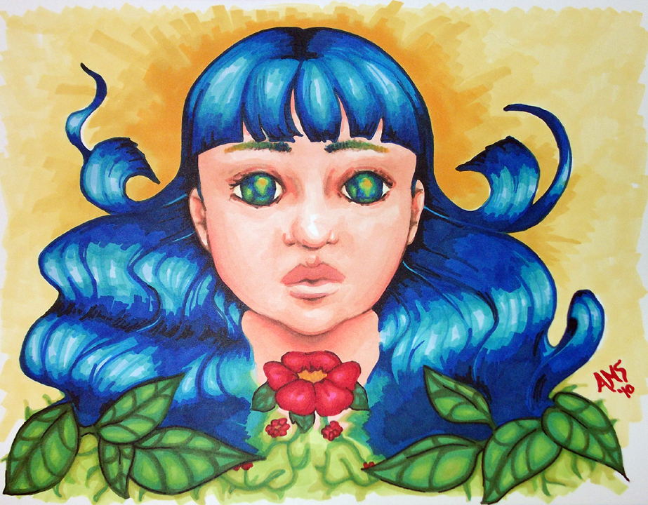 Heart of Zeal glowing earth child art prismacolor marker