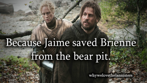 Jaime Lannister Brienne Bear Pit Game of Thrones